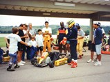 Ayrton Senna Kart - $Senna and friends pictured shortly before his drive with the kart in March of 1994.
