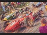 1966 US Grand Prix Oil Painting by Alfredo de la María, 1995 - $