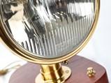 Three Brass-Era Restored Headlight Table Lamps - $