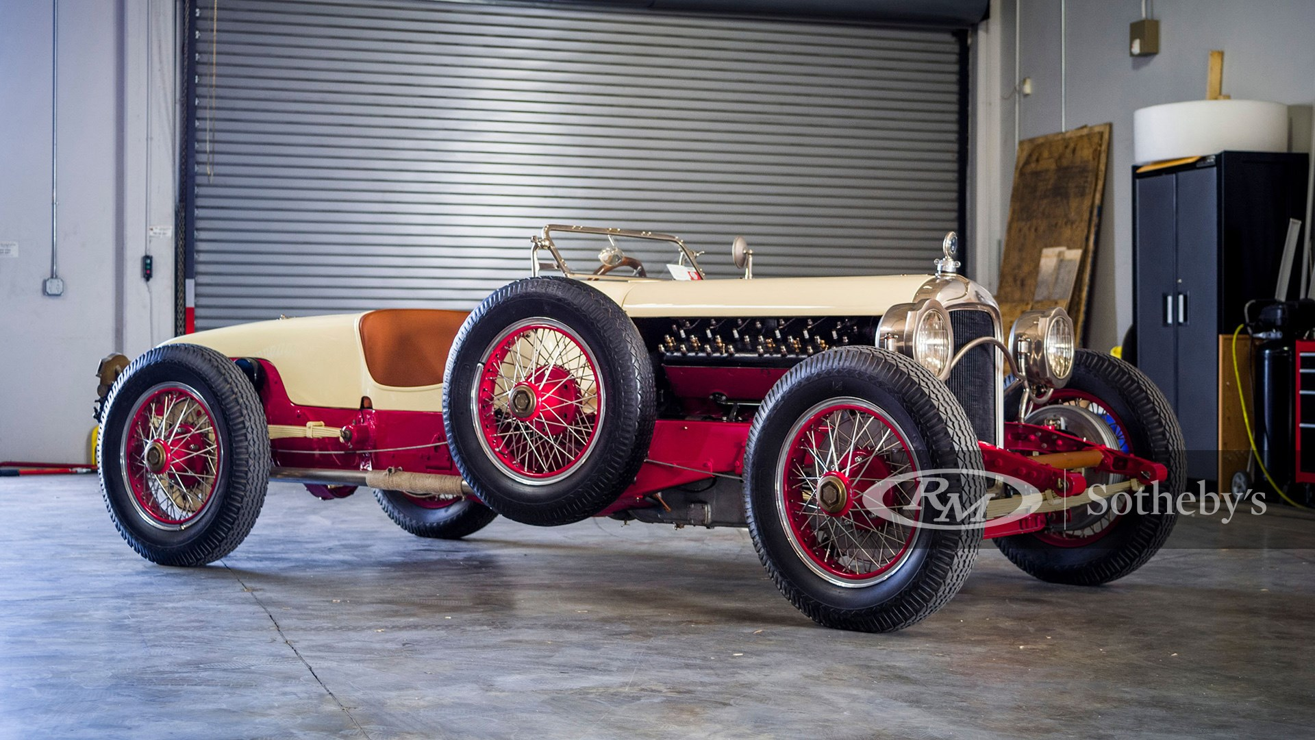 Cream over Red 1917 Packard 2-25 Twin Six Runabout available at RM Sotheby's Online Only Open Roads February Auction 2021