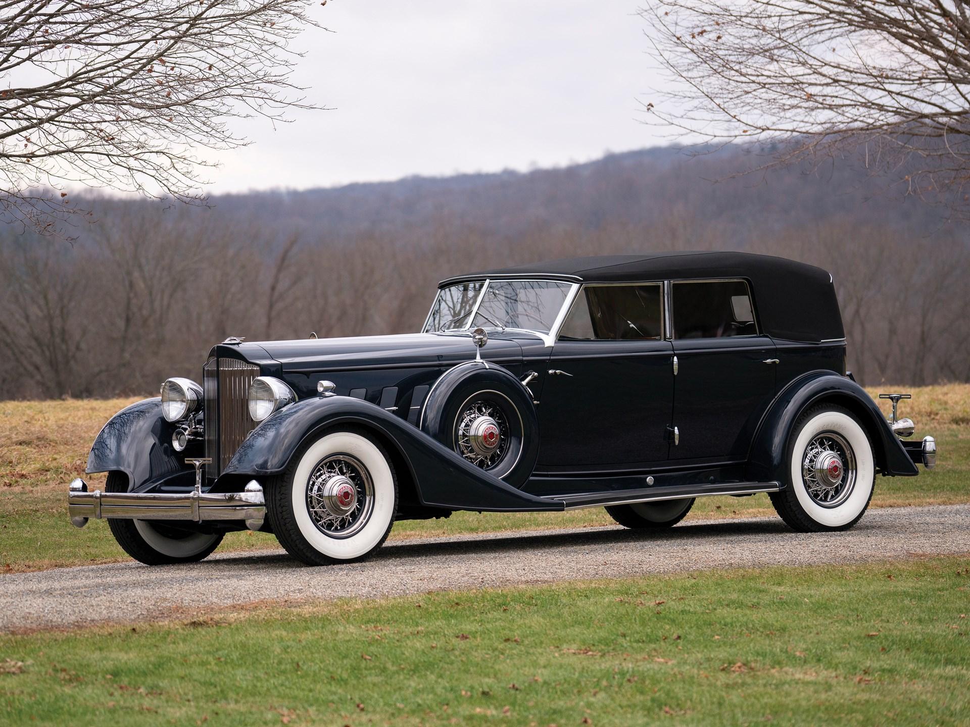 Image result for rm 1934 Packard Twelve Individual Custom Convertible Sedan