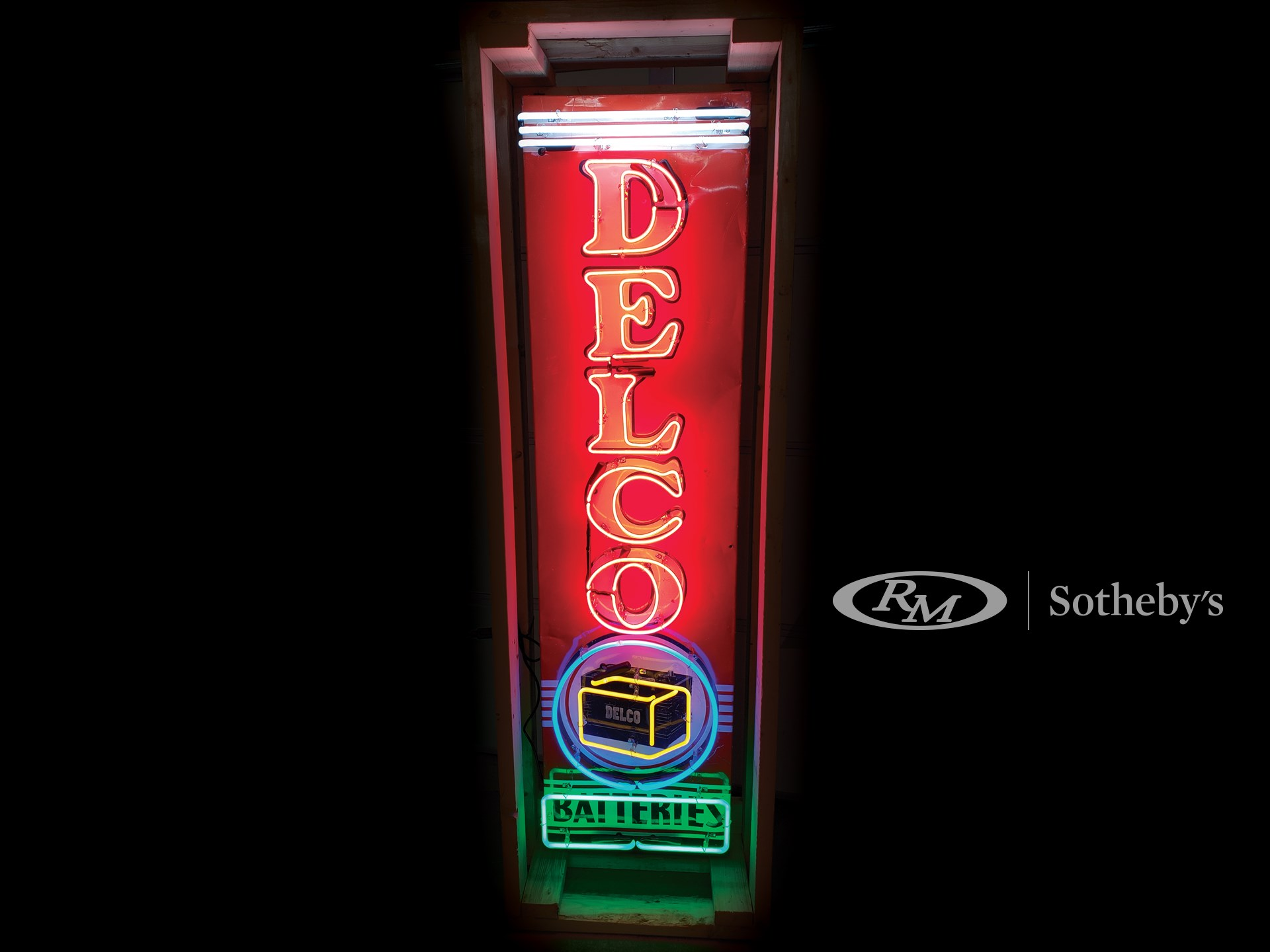 Delco Batteries Neon Tin Sign -