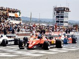 1982 Ferrari 126 C2  - $Patrick Tambay in the 126 C2 at the start of the 1982 French Grand Prix.