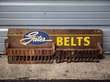 Gates Belts Wooden Display - $
