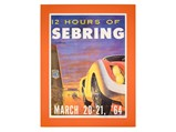 12 Hours of Sebring Original Event Poster, 1964 - $