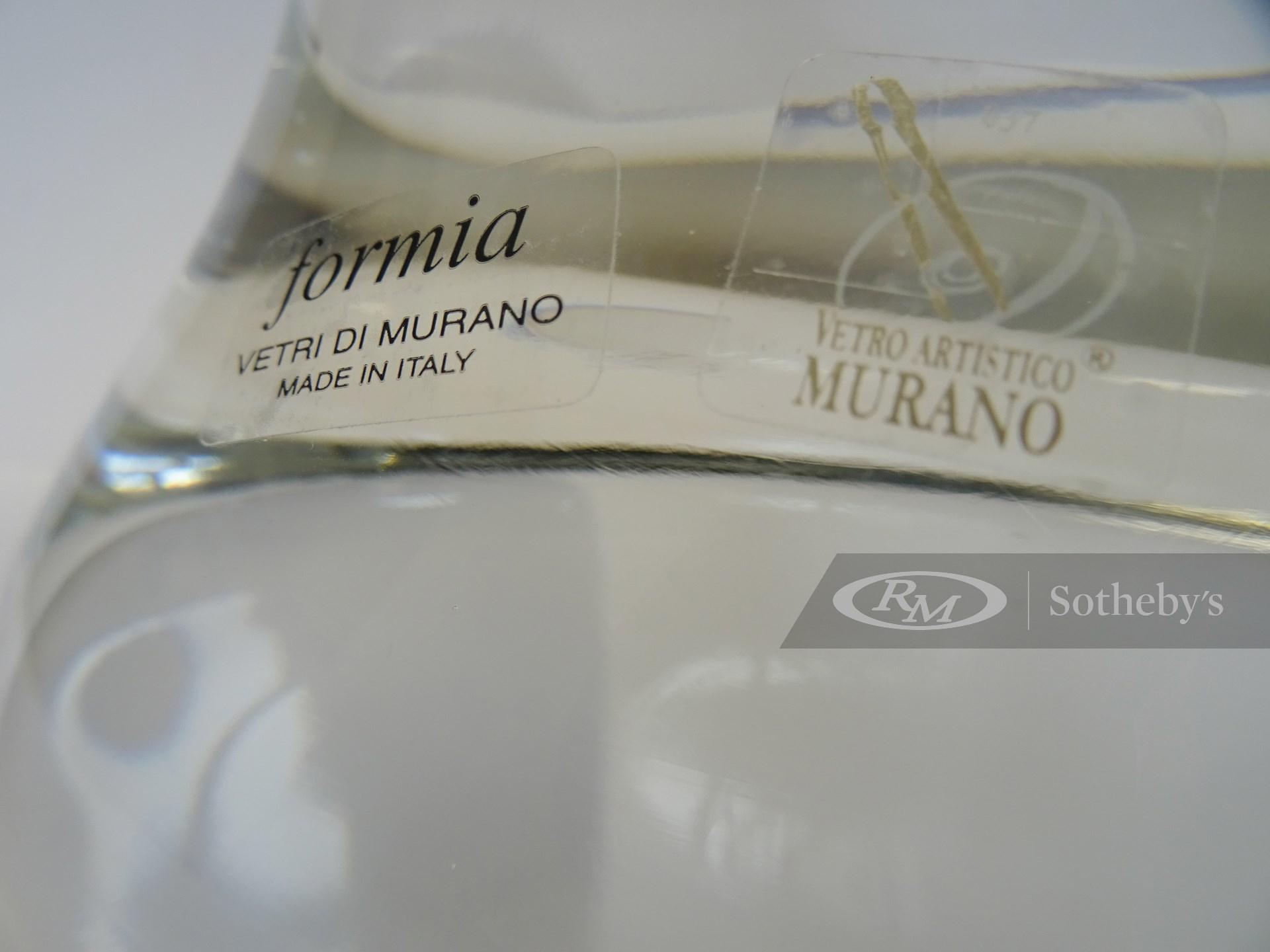 Ferrari 'Cavallino Rampante' Murano Glass Sculpture -