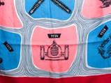 Porsche Crimson Silk Scarf, Factory Gift, 1955 - $