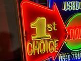 Dodge 1st Choice Custom-Made Neon Tin Sign - $