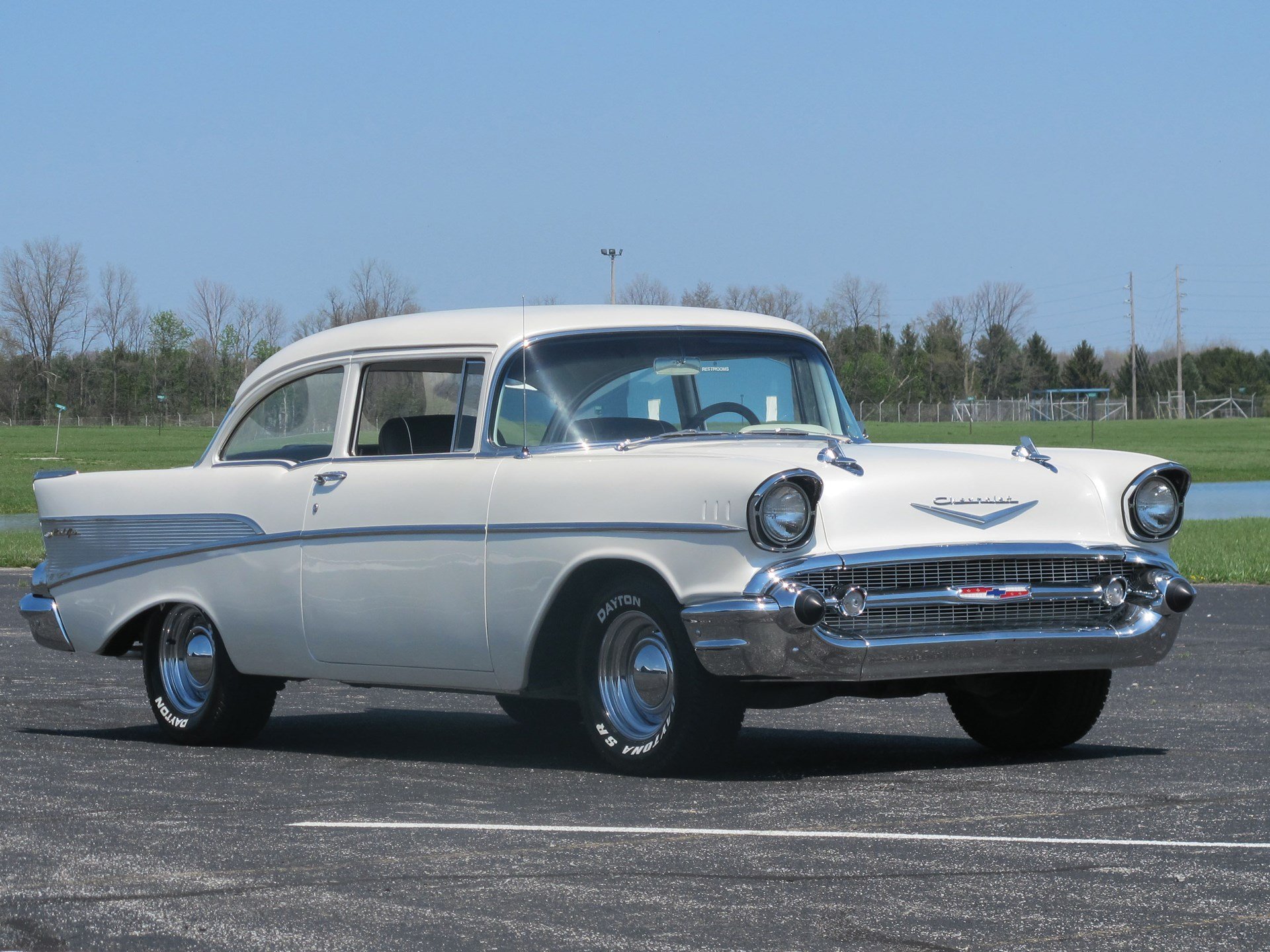Rm Sothebys 1957 Chevrolet Bel Air Auburn Spring 2013 Chevy Bucket Seats