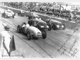 1936 Delahaye 135 S Compétition Court in the style of Chappe Frères - $Eugène Chaboud at the Grand Prix de Paul in April of 1939 alongside the Talbot of Etancelin and Delahaye of Paul.