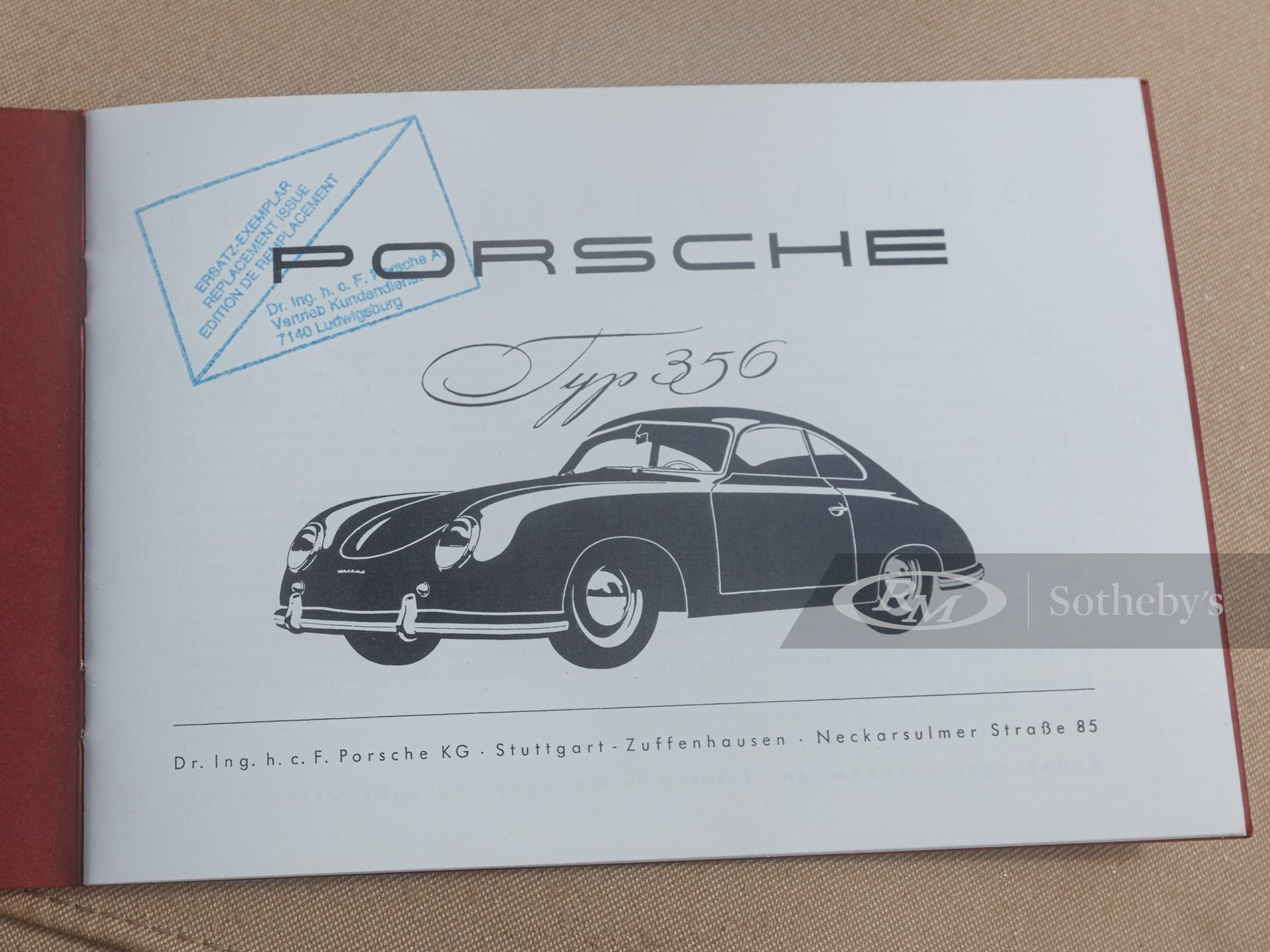 1953 Porsche 356 Cabriolet by Reutter -