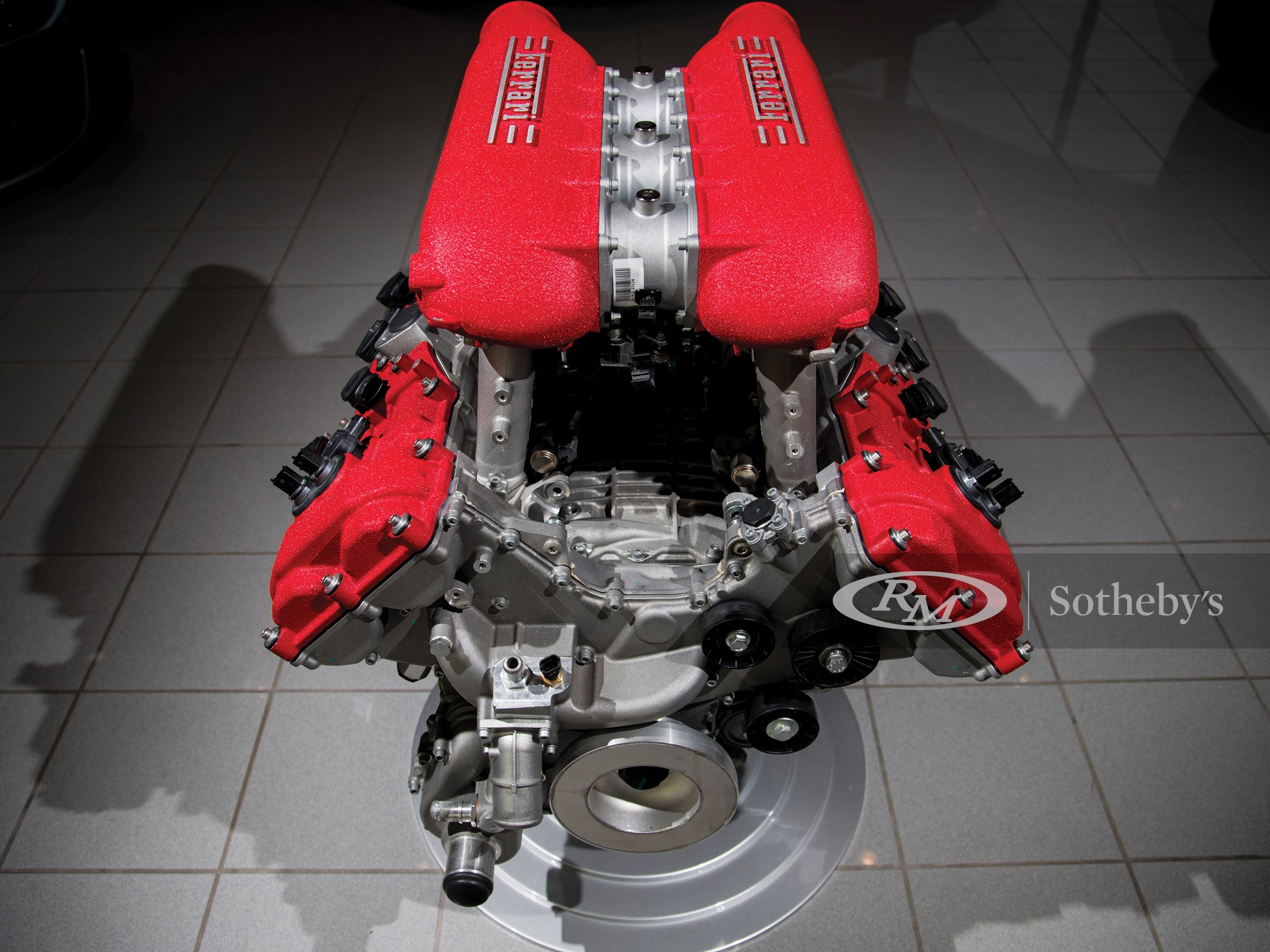 Ferrari 458 Italia Engine with Stand -