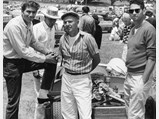 1961 Chaparral 1 Prototype  - $Jim Hall, Tom Barnes, Dick Troutman with Chaparral 001.
