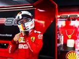 Sebastian Vettel Ferrari Racing Suit and Ferrari SF90 F1 Rear Wing End Plate, 2019 - $
