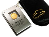 50 Years of Porsche Celebration Gold Presentation Coin, Factory Gift, 1998 - $