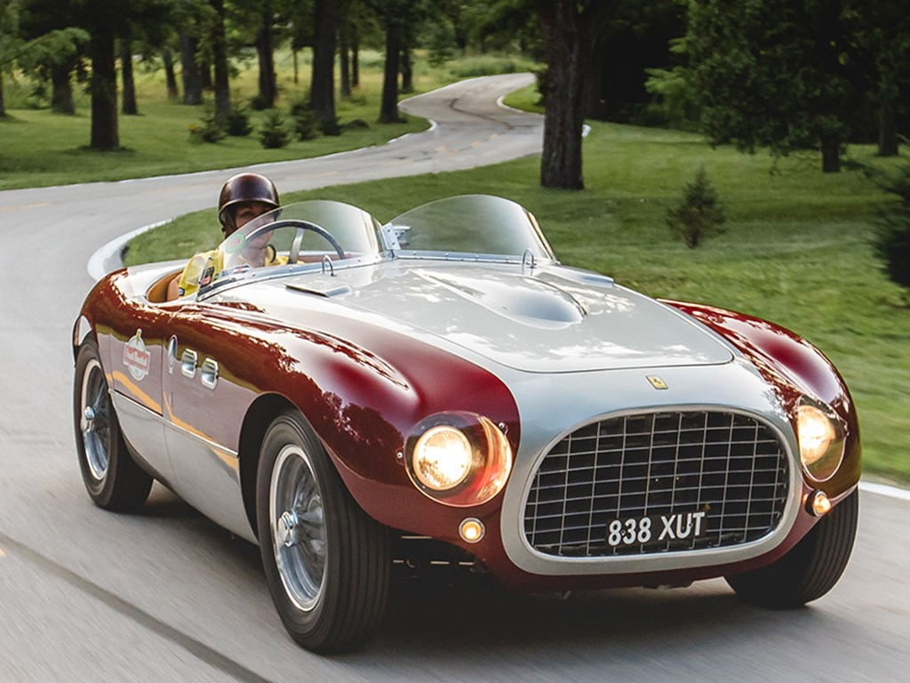 1953 Ferrari 166 MM Spider Series II by Vignale Offered at Rm Sothebys Monterey Live Auction 2021