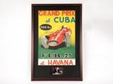 Grand Prix of Cuba Event Poster, Signed by Juan Manuel Fangio - $
