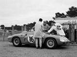 1962 Ferrari 268 SP by Fantuzzi - $Factory testing at Le Mans, April 1962.