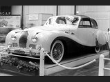 1948 Talbot-Lago T26 Record Sport Coupe de Ville by Saoutchik - $Chassis 100238 on full display at the Paris Salon, where it won Le Grand Prix du Salon, October 1950.