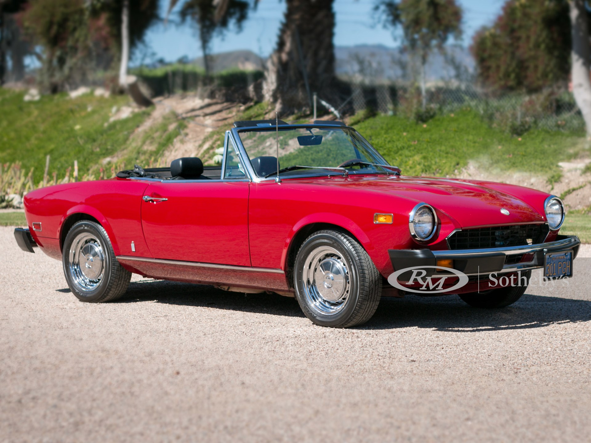 1976 Fiat 124 Sport Spider Driving Into Summer Rm Online Only
