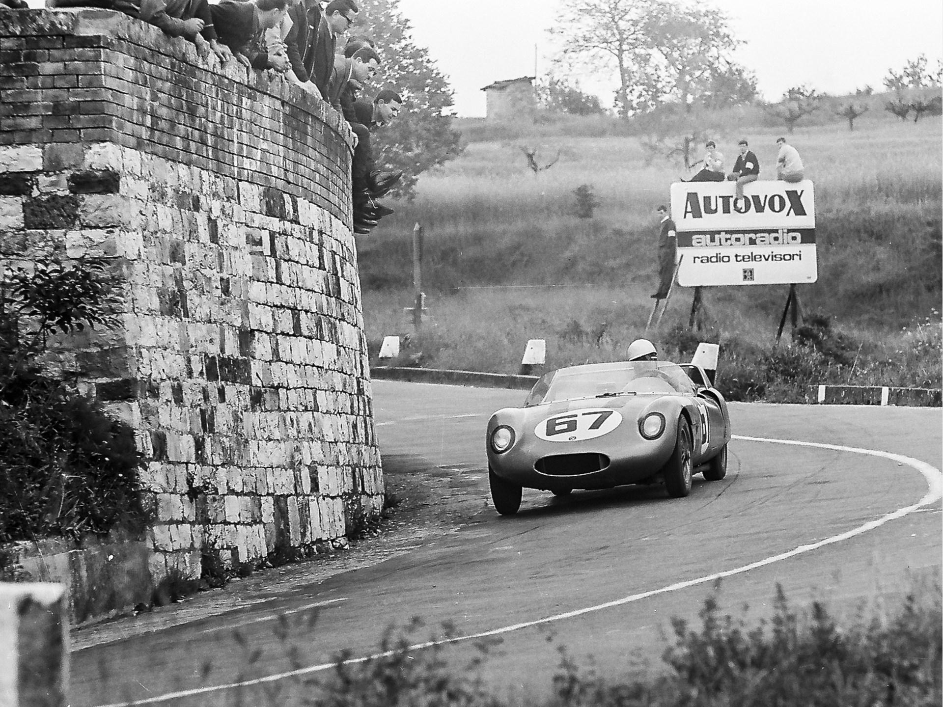 At speed at Mugello in 1965.