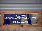 Ford Genuine Parts Used Here Framed Porcelain Sign - $