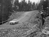 1954 Mercedes-Benz 300 SL Gullwing  - $The Gullwing at speed during the 1955 Rally of the Midnight Sun.