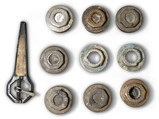 Various Hubcaps and Wheel Wrench - $