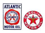 Atlantic and Texaco Motor Oil Signs - $