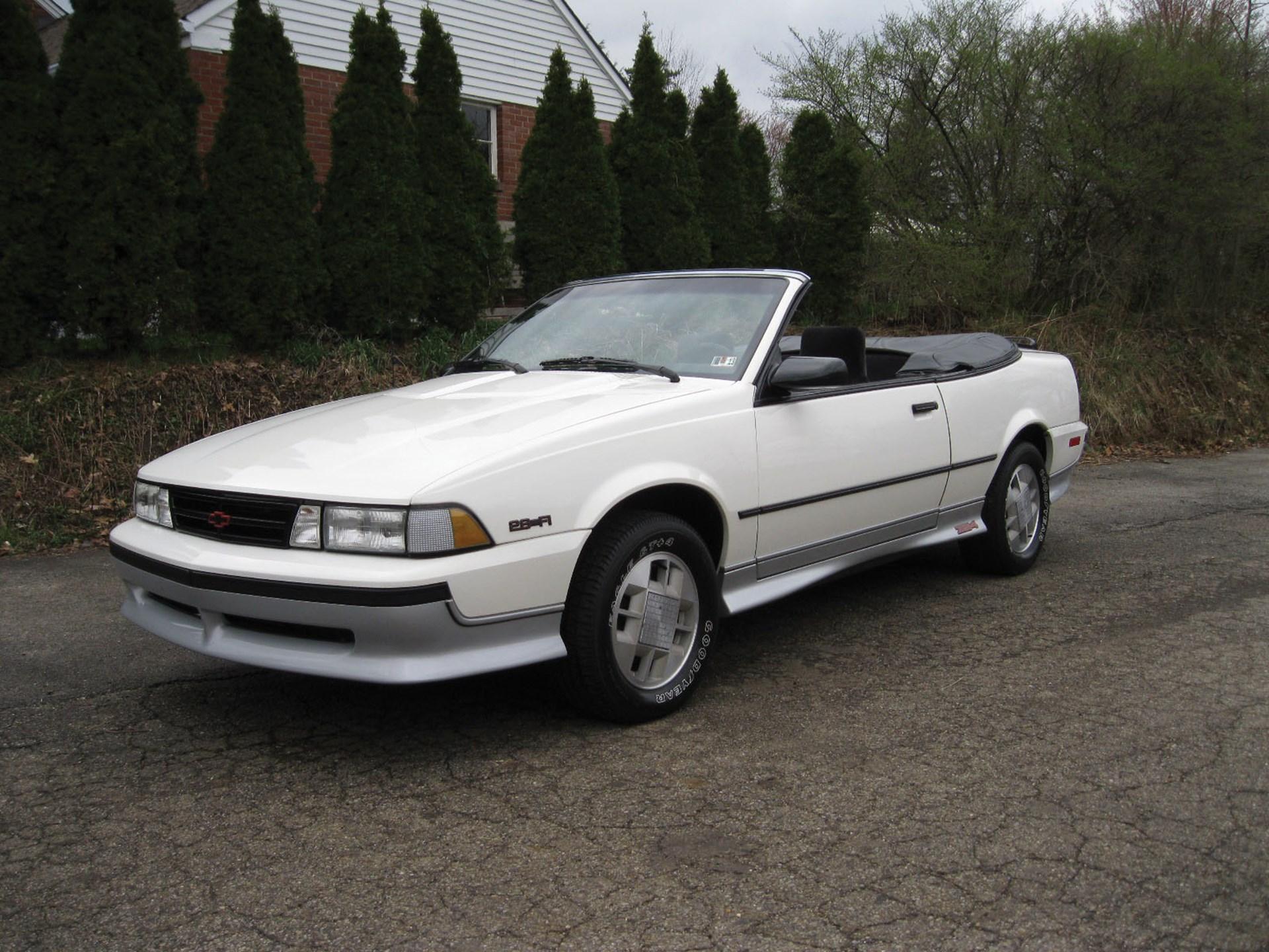 1989 chevy cavalier z24 specs