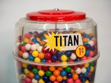 Titan Oak 1¢ Gumball Machine - $