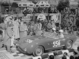 1953 Ferrari 166 MM Spider  - $Chassis 0272 M with Emmanuel de Graffenried and Giannino Parravicini at the start of the 1954 Mille Miglia.