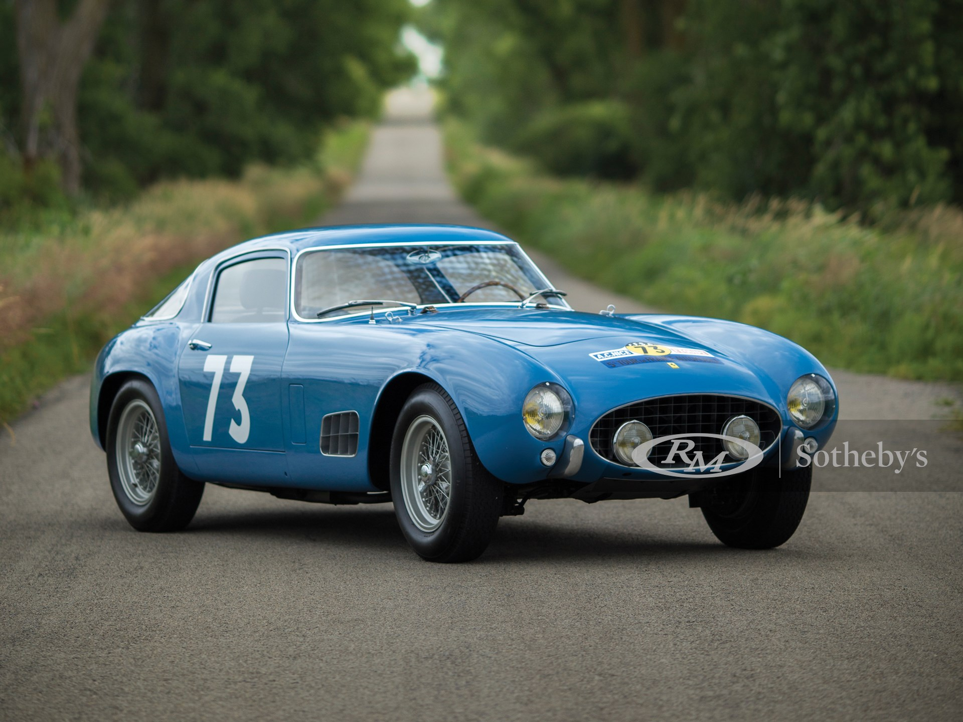Ferrari 250 GT Berlinetta Competizione #171 5th Tour de France 1957 Peron Burgg