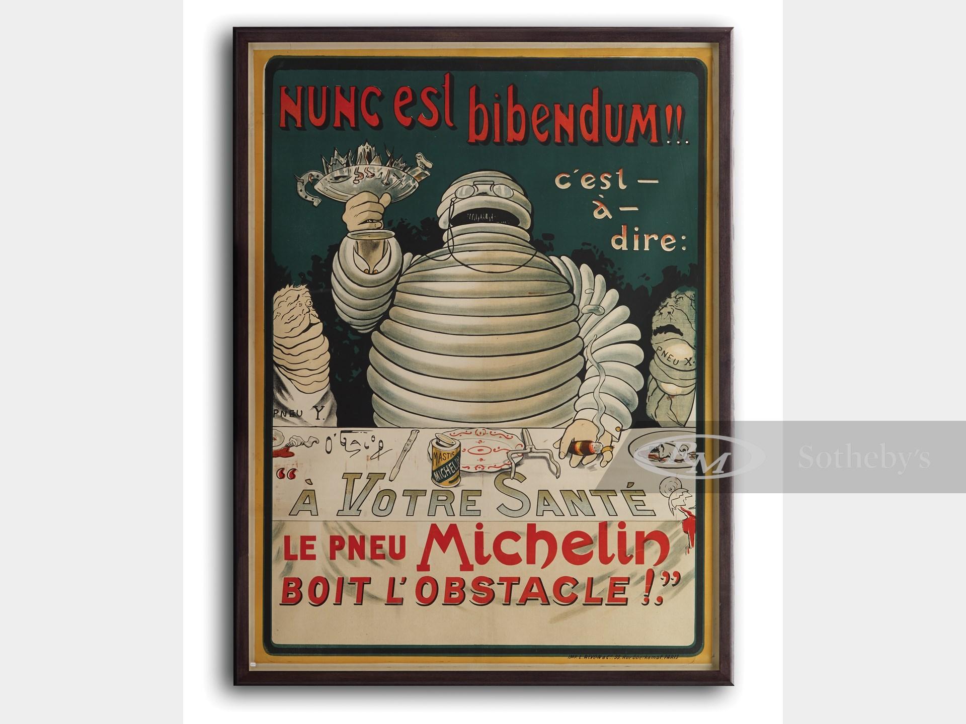 Michelin Nunc est Bibendum Vintage Automobile Motor Poster