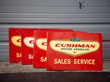 Cushman Sales-Service Double-Sided Flange Signs - $