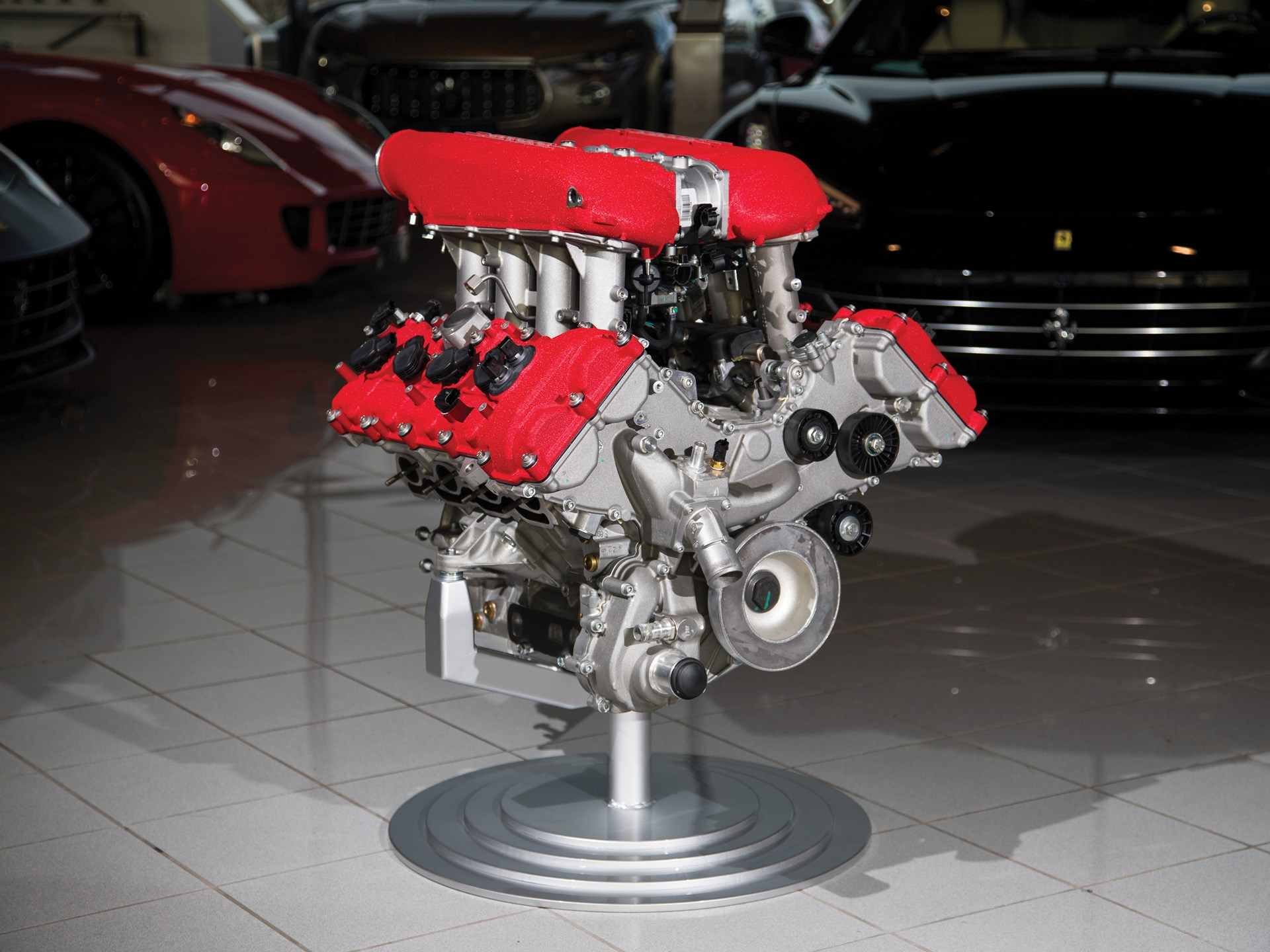 Ferrari 458 Italia Engine with Stand
