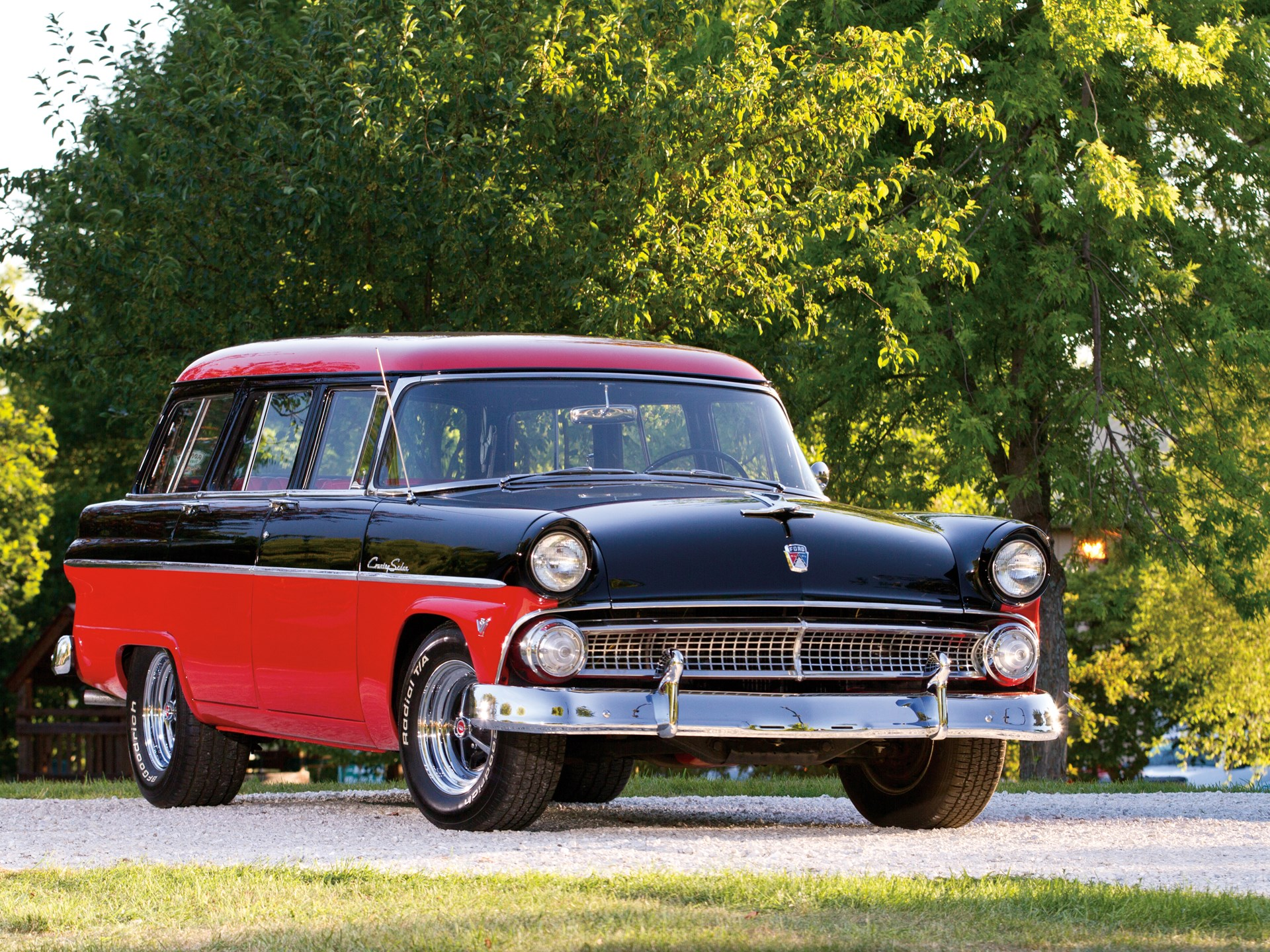 Rm Sothebys 1955 Ford Country Sedan Six Passenger Station Wagon Coupe Suspension