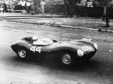 1955 Jaguar D-Type  - $XKD 520 at the Lowood Tourist Trophy in 1956, where it finished 2nd.