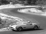 1959 Ferrari 250 GT LWB California Spider Competizione by Scaglietti - $Grossman behind the wheel of 1451 GT at Thompson in 1959.