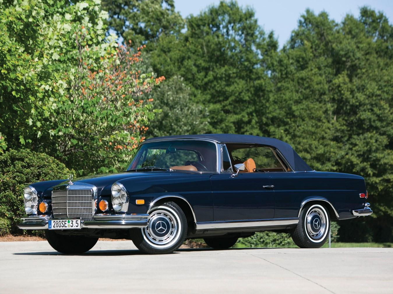 rm sotheby 39 s 1971 mercedes benz 280 se 3 5 cabriolet. Black Bedroom Furniture Sets. Home Design Ideas
