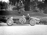 1925 Bugatti Type 35 Grand Prix  - $Lord Cholmondeley pictured with his Bugatti shortly after delivery in 1925 (note the temporary French registration plates).