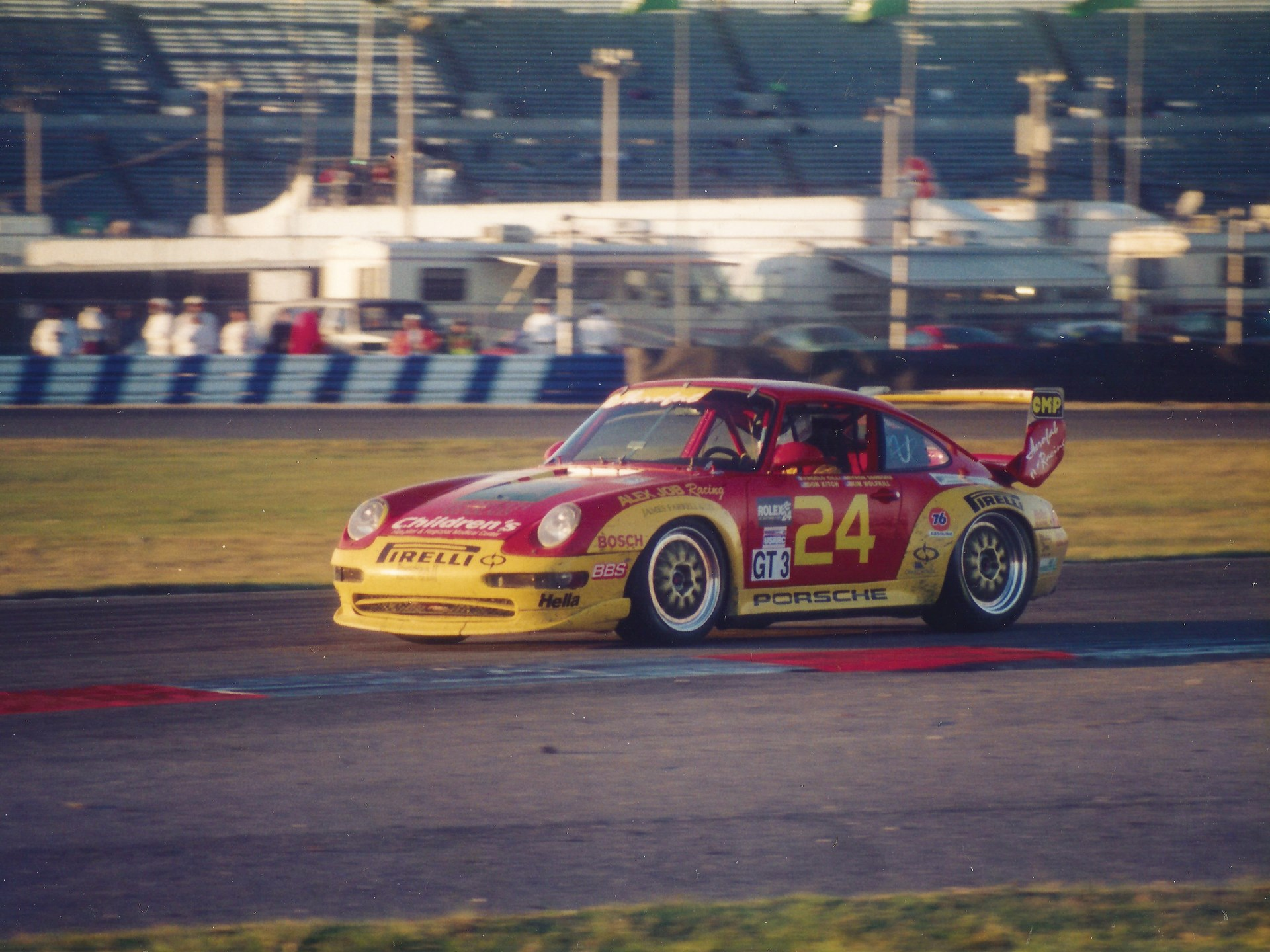 The 993 RSR at the 1998 24 Hours of Daytona, where it placed 12th in class.
