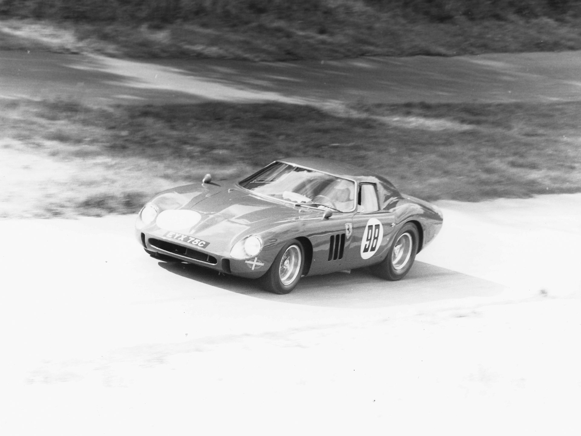 The 250 GTO at Prescott in 1967.