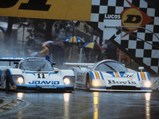 1983 Porsche 956 Group C  - $Chassis 956-110 dominates in the rain at the Brands Hatch 1000 KM in 1983.