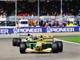 1992 Benetton B192  - $Michael Schumacher leads Mika Häkkinen at the 1992 British Grand Prix.