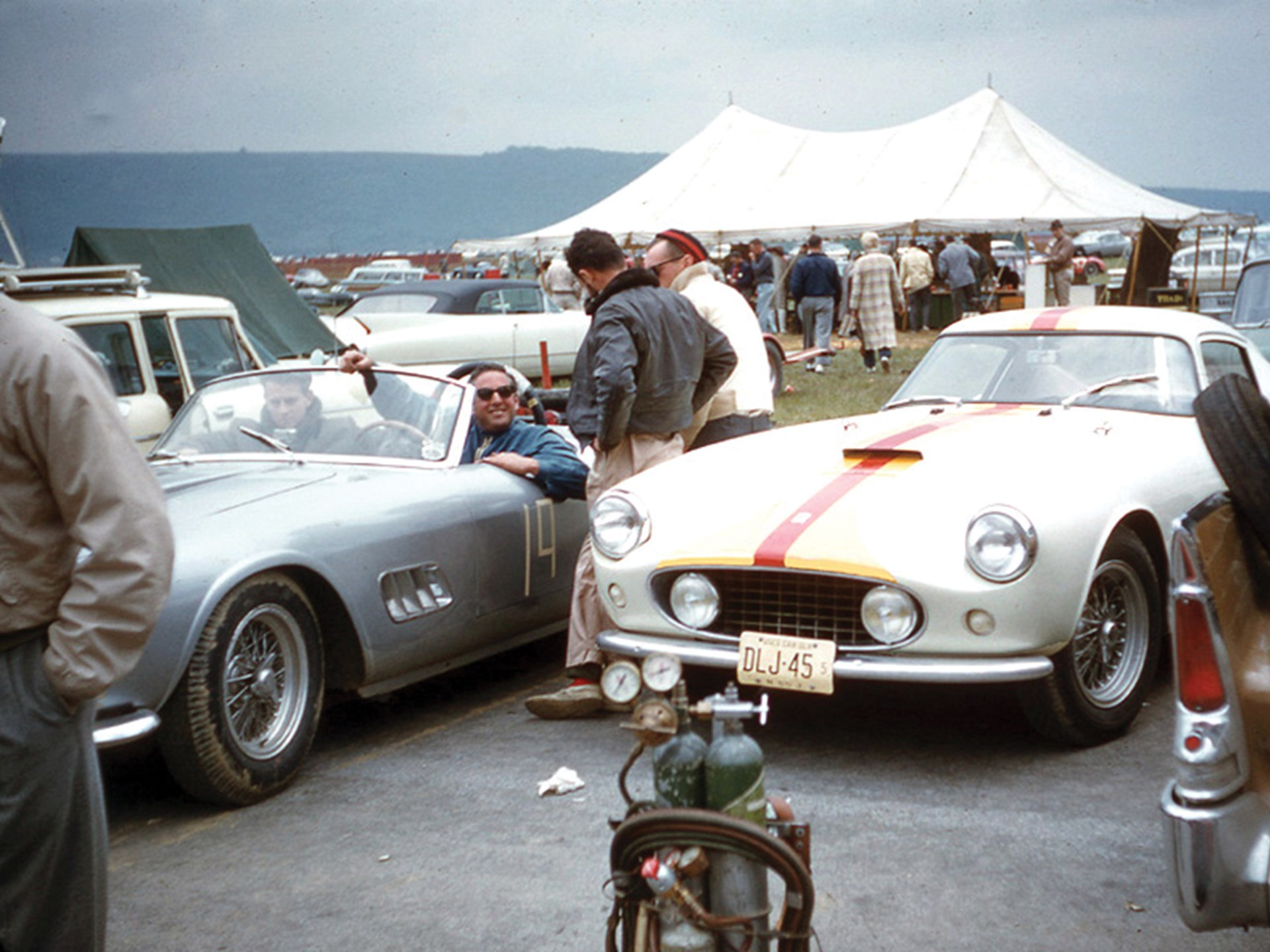 Bob Grossman and friends with 1451 GT at Cumberland in 1960.