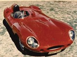 1955 Jaguar D-Type  - $XKD 520 pictured in the 1960's following its racing career.