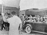1939 Chrysler Custom Imperial Parade Phaeton by Derham - $President Franklin D. Roosevelt, along with wife Eleanor and Chrysler President K.T. Keller, tour the Detroit Arsenal Tank Plant on September 18, 1942.