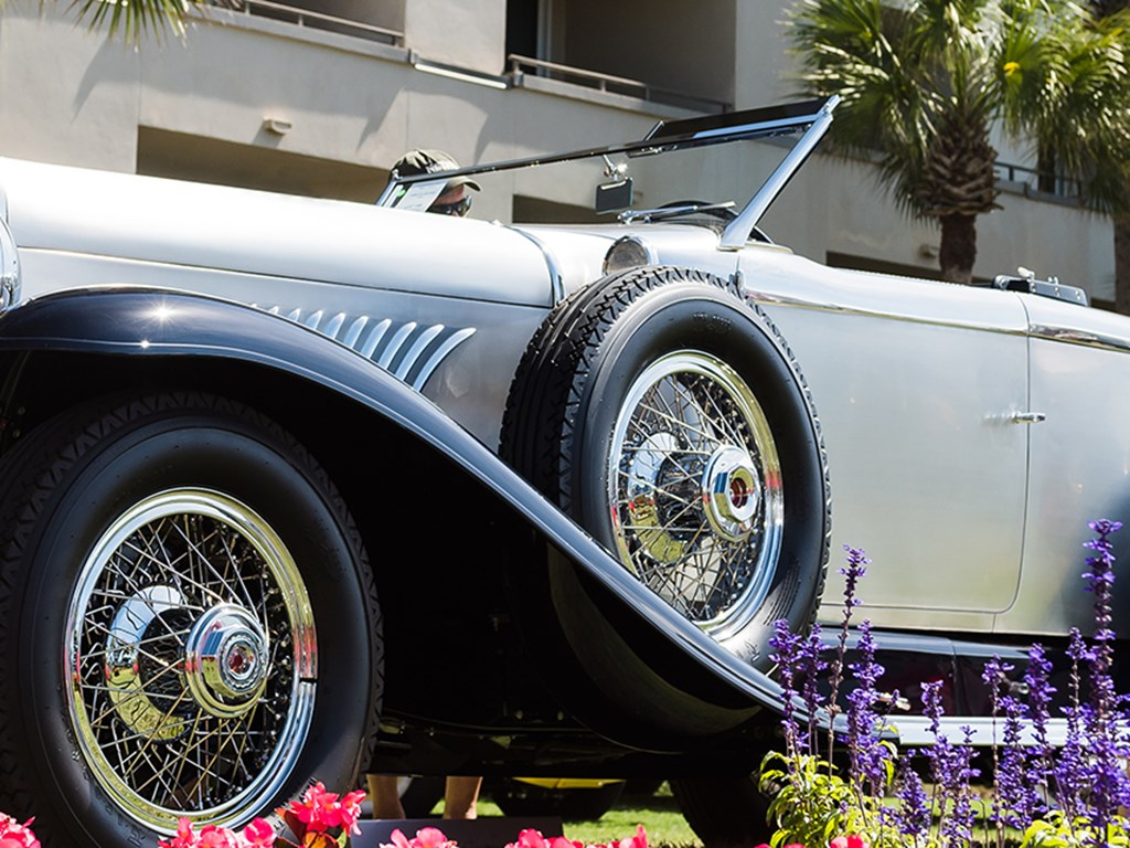 1929 Duesenberg Model J Disappearing Top Torpedo by Murphy offered at RM Sothebys Amelia Island Live Auction 2021