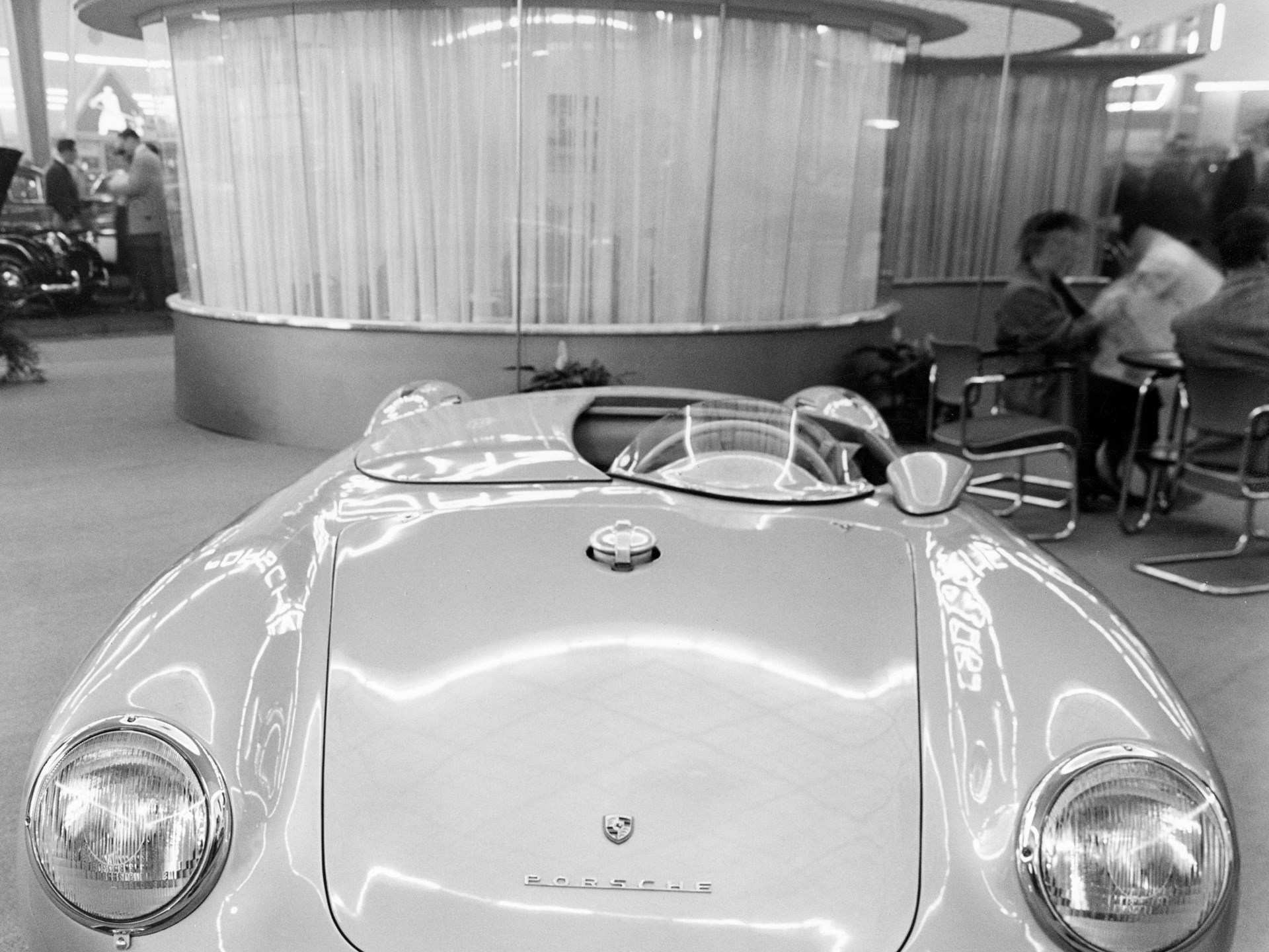 Chassis 550-0068 on the 1955 Frankfurt Motor Show.